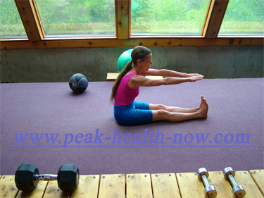 Abdominal exercises touching toes