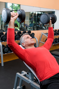 Testosterone booster - weight training