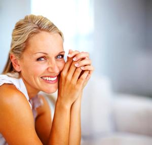 Healthy menopausal woman