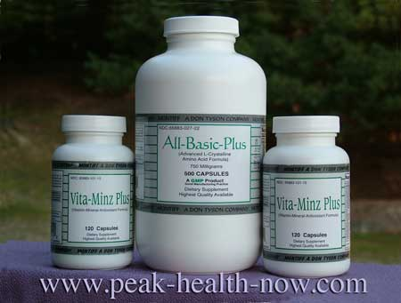 Montiff All-Basic Plus and Vita-Minz Plus - full-spectrum Amino Acids and Vitamin/Mineral formulas - the best of their kind!
