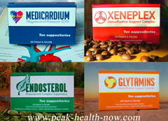 Rejuvelon Medicardium Xeneplex Glytamins Endosterol detox suppositories Mix 'n Match