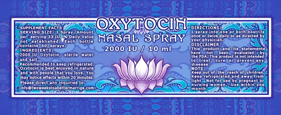 Oxytocin Nasal Spray label