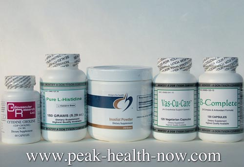 Peak Nitric Oxide package with Histidine