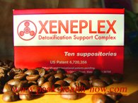 Xeneplex Coffee enema suppositories with Glutathione and EDTA