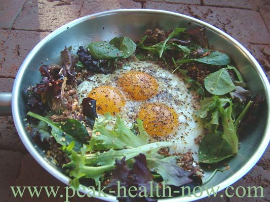 Paleo Diet Recipes: Pasture Raised Eggs and Mesclun mix
