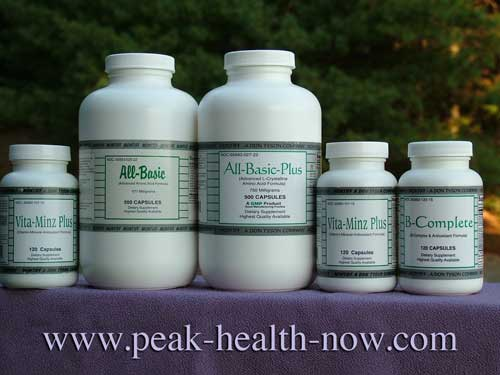 Montiff Amino Acids, B-Vitamins, Multi Vitamin-Mineral full-spectrum packages