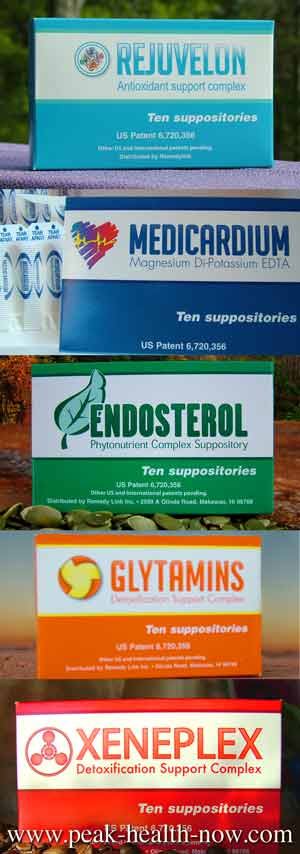 Medicardium Xeneplex Glytamins Endosterol Rejuvelon detox suppositories 5-pack